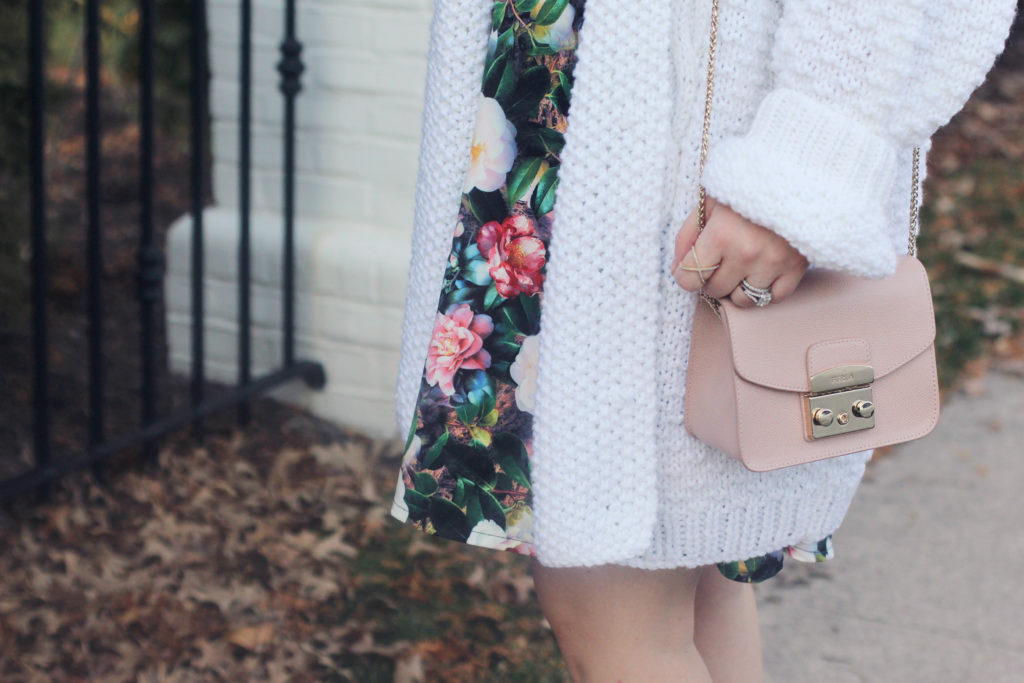 Spring Dress and Oversized Cardigan