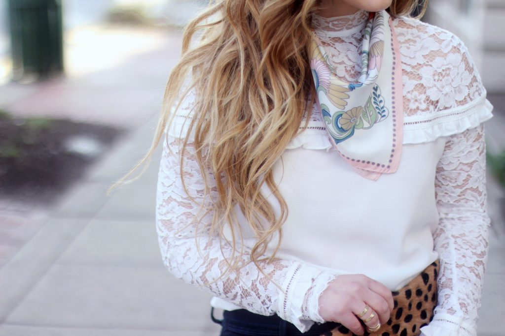 must have ruffle and lace blouse