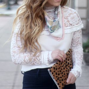 The Must Have Ruffle and Lace Blouses + How to Style Them