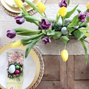 How to Make a Tulip Centerpiece for Your Easter Table