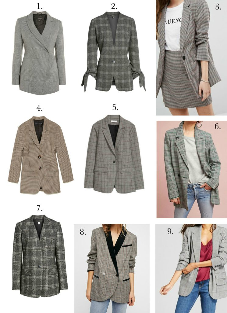 Oversized Checked Blazers to Buy Right Now