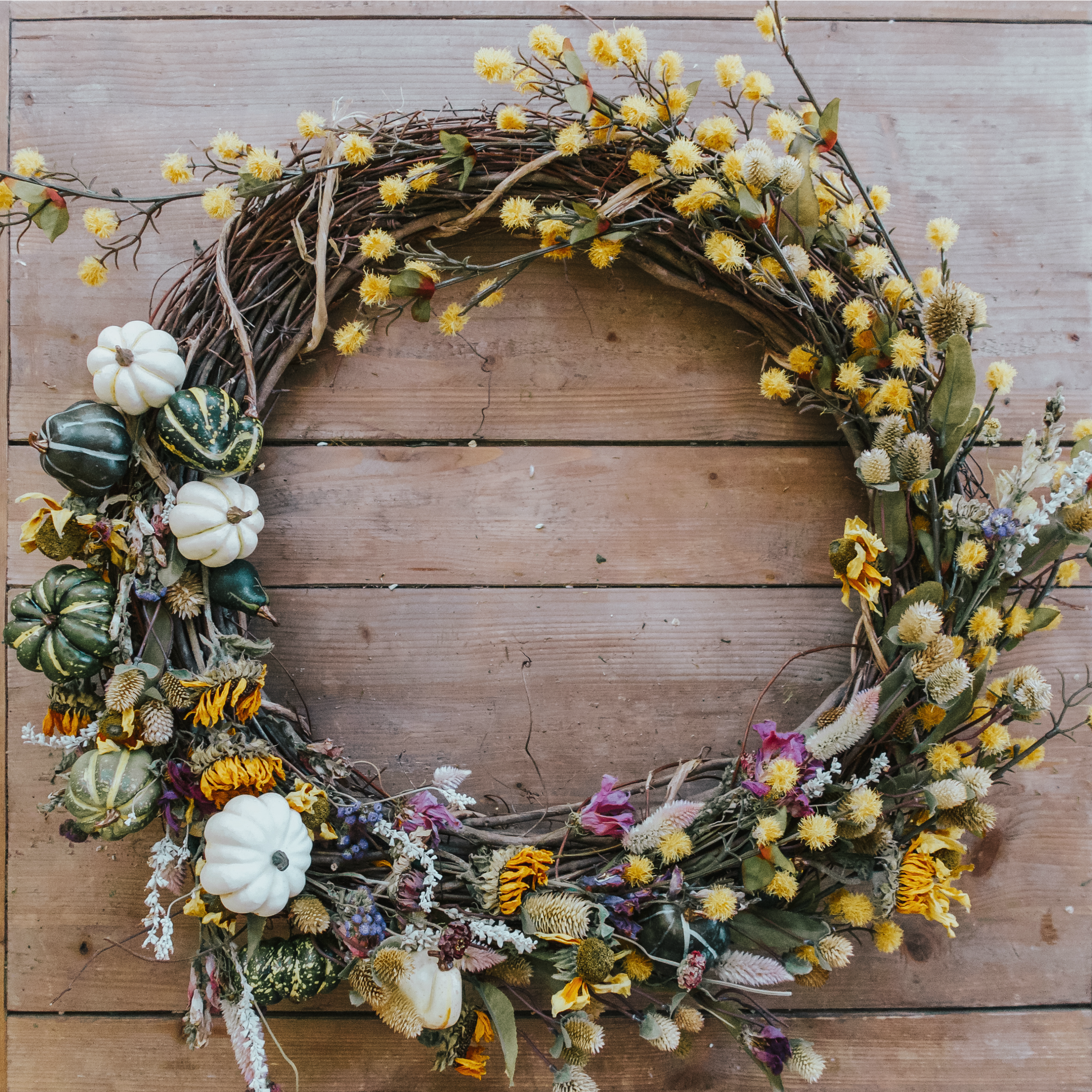 How To Make A Dried Floral Fall Wreath Zoe With Love